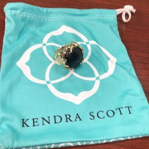 Kendra Scott black and gold ring